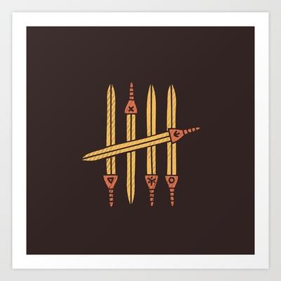 Five Art Print by Hector Mansilla - $15.00