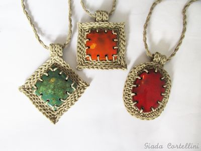 Giada Cortellini - Tribal and Nature inspired jewelry and accessories: Geometry: hemp + ceramic jewelry - Geometrie: gioi...