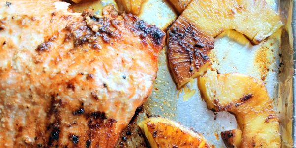 Recipe: Brown Sugar Honey Marinated Salmon with Caramelized Pineapple Quinoa | The Apiary