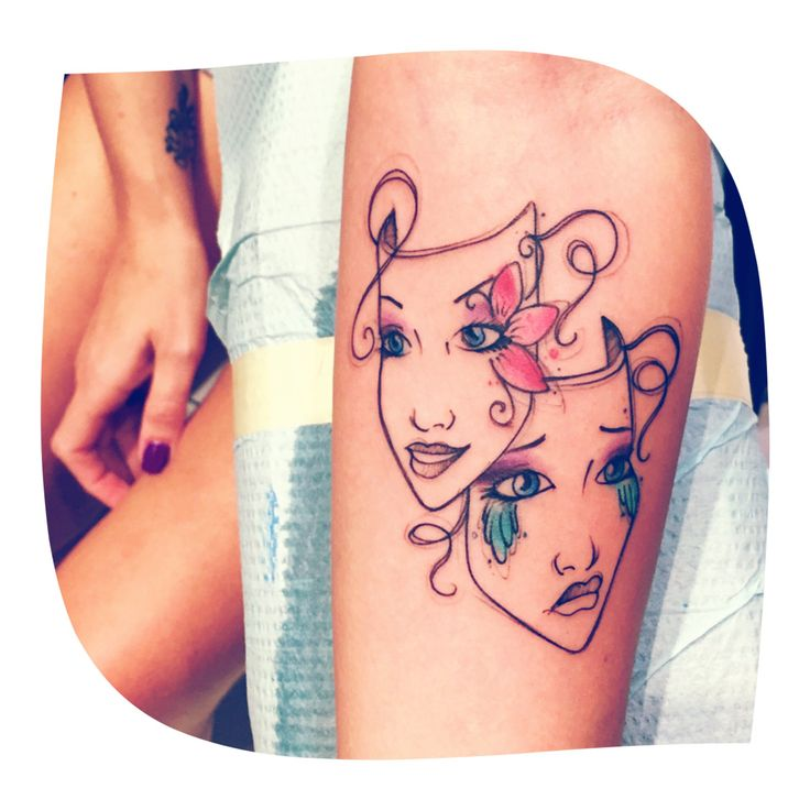 Best 25 mask tattoo ideas on pinterest for Two faced tattoo