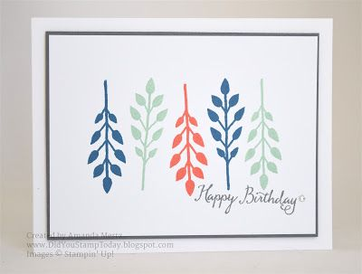 Did You Stamp Today?: Leaf Lineup Birthday - Stampin' Up! Flower Patch