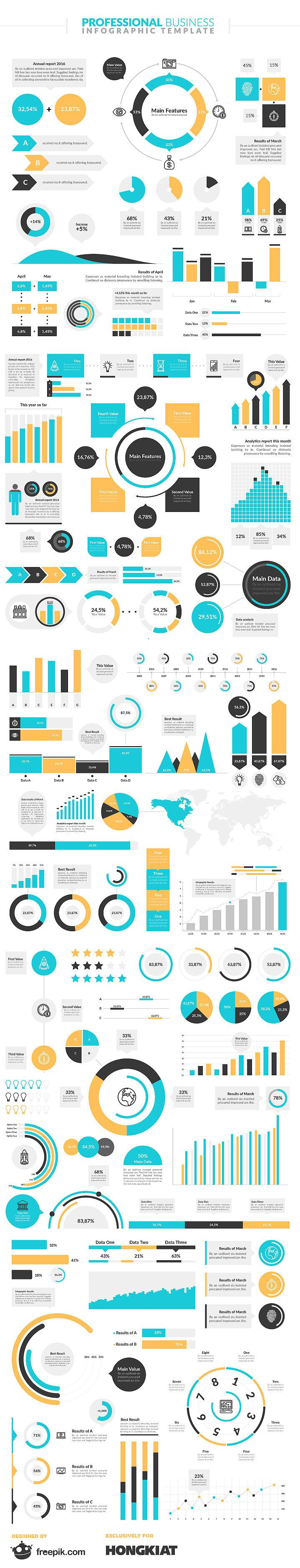 Freebie: Professional Business Infographic Template  Design hongkiat.com