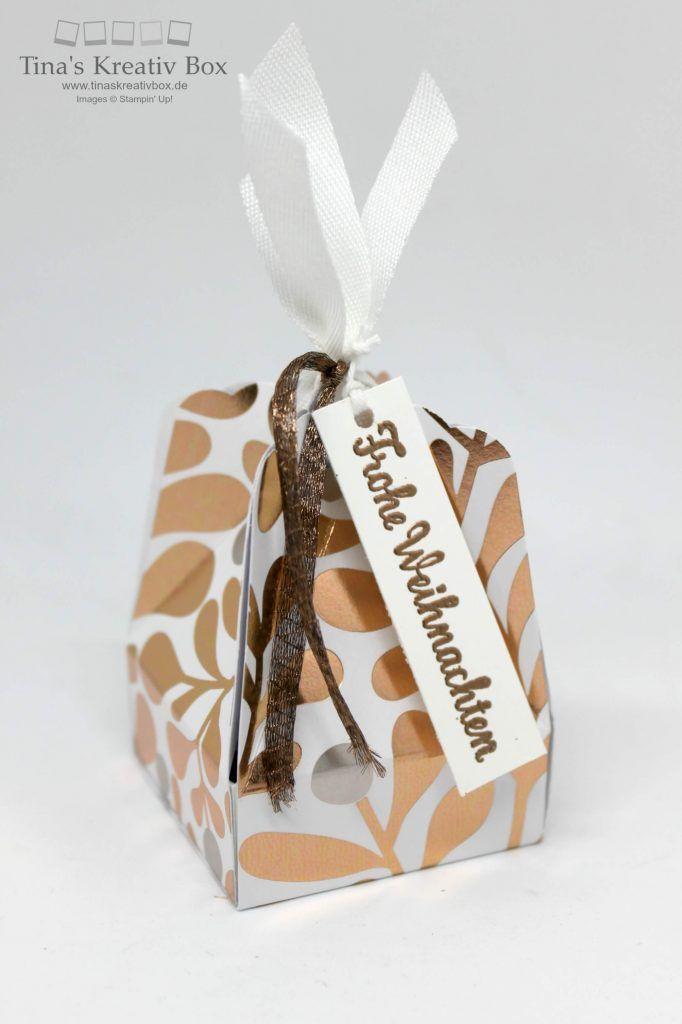 Kleine Verpackung mit Stanze gewellter Anhänger - mit Produkten von Stampin' Up!