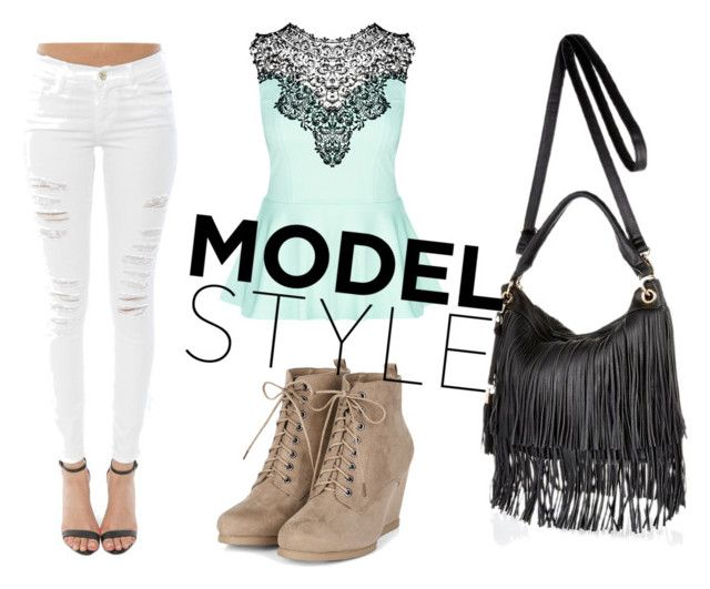 """""""model"""" by simdanjoh on Polyvore featuring Frame Denim, City Chic and River Island"""