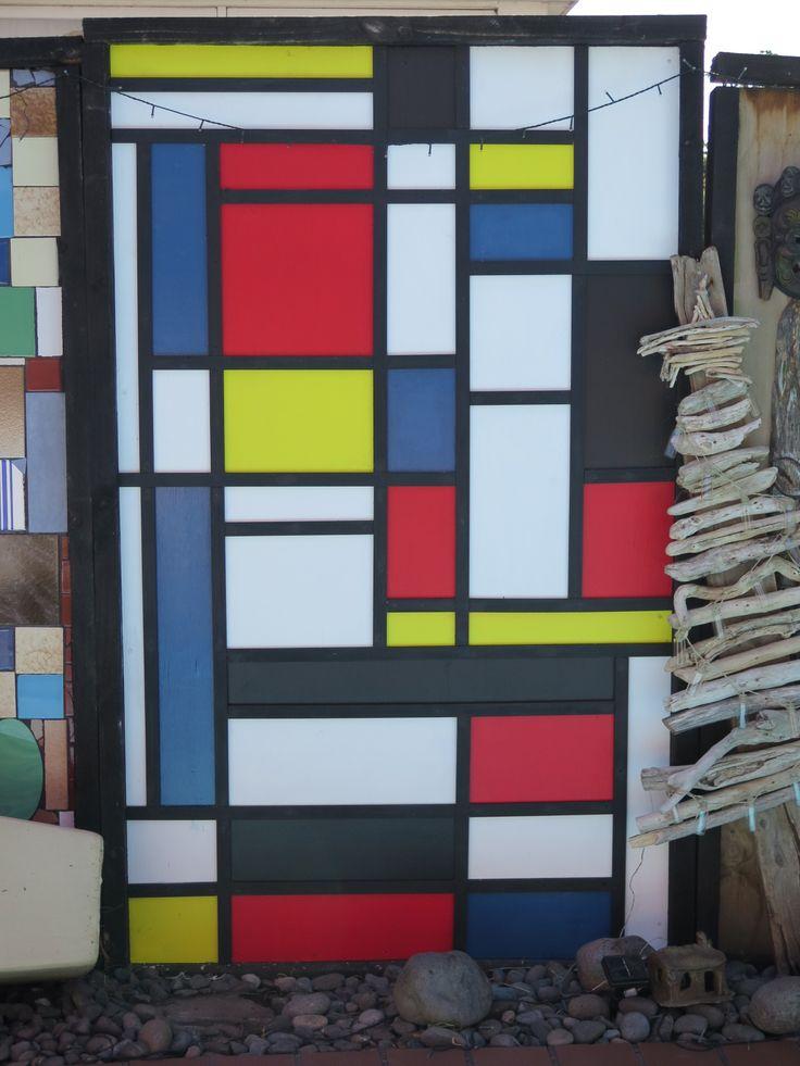 Mondrian inspired fence panel