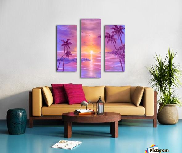 Fantasy, sky, art, painting, in panels