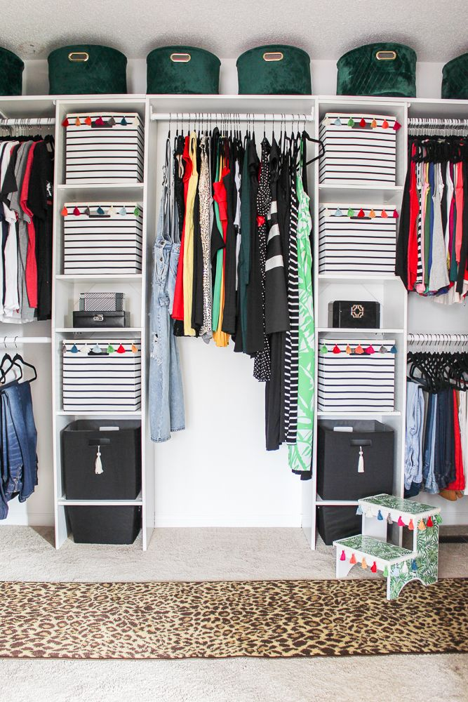 Diy Master Closet Makeover A Diy Walk In Closet On A Budget