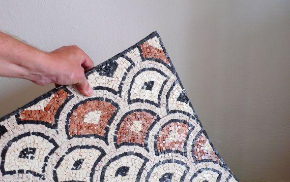 mosaic rug carpet. Stone mosaic flexible by LaTenagliaImpazzita