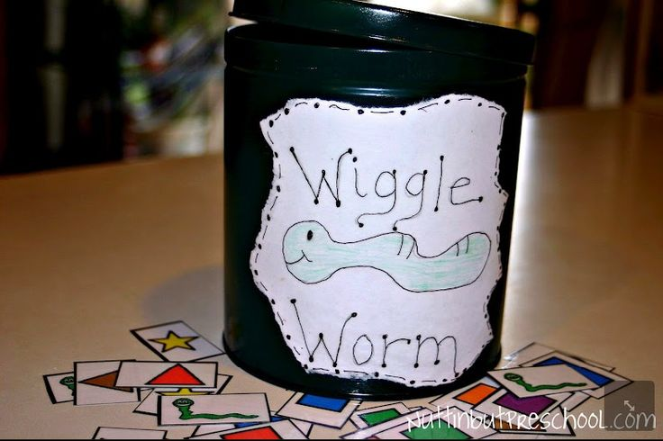 Wiggle Worm Color and Shape/Letters Circle Time Large Group Game