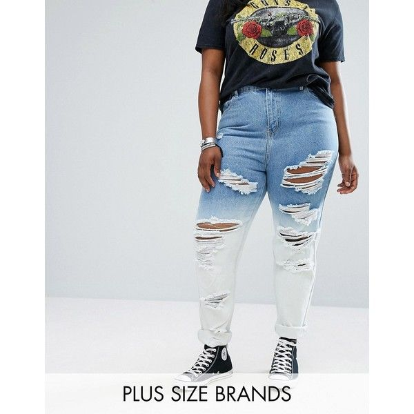 Alice & You Dip Dye Boyfriend Jean ($55) ❤ liked on Polyvore featuring jeans, blue, plus size, plus size ripped jeans, tall boyfriend jeans, destructed boyfriend jeans, plus size boyfriend jeans and plus size distressed jeans