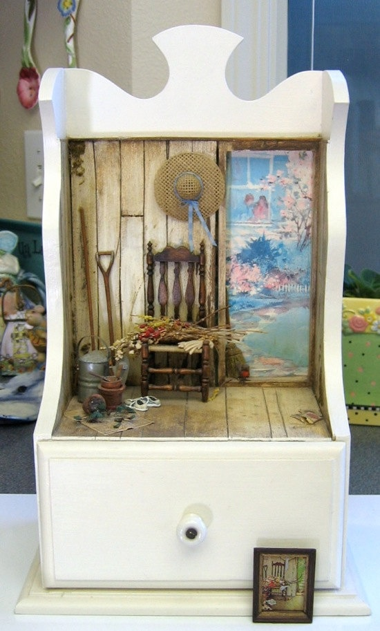 chrome hearts optical rodeo rd los angeles california By Ann Maselli - Miniature room box scene inspired by a Norman Rockwell painting in one inch scale