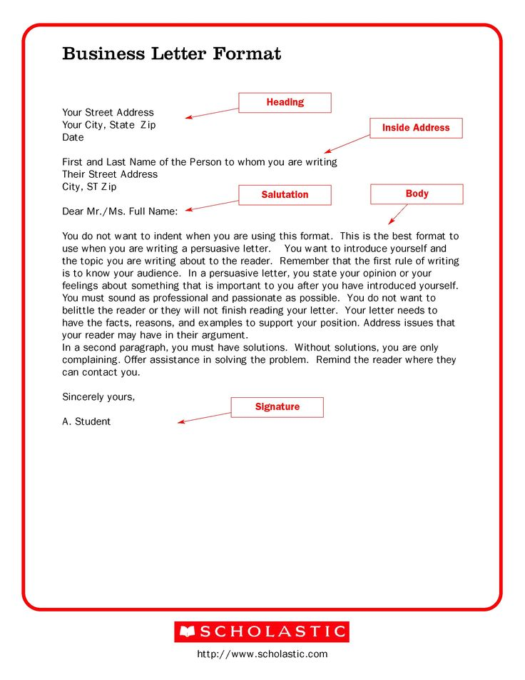 1000+ ιδέες για Business Letter Example στο Pinterest - standard business letters format