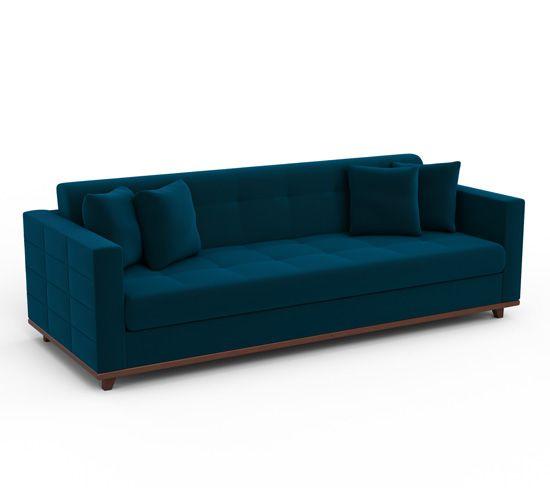 Sofá 3 Lugares Master Sofás Classic Em Velvet: 17 Melhores Ideias Sobre Veludo Azul No Pinterest