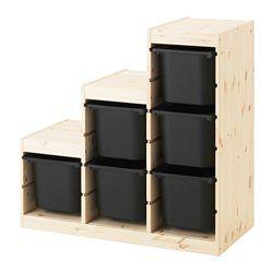 IKEA - TROFAST, Opbergcombinatie, grenen/zwart, , Een speelse en ...