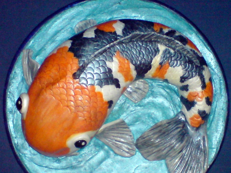 43 best koi carp images on pinterest cakes animal cakes for Koi pool blackpool
