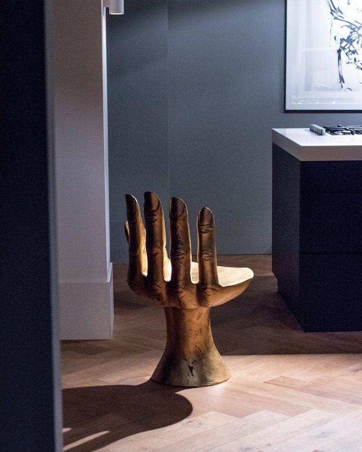 #gold #grey #interior #design #homemaking #kitchen #parquet #art