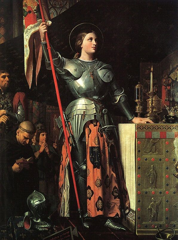 St. Joan of Arc by Ingres. More Catholic art from Ingres here … http://corjesusacratissimum.org/2011/03/ingres-and-catholic-france/