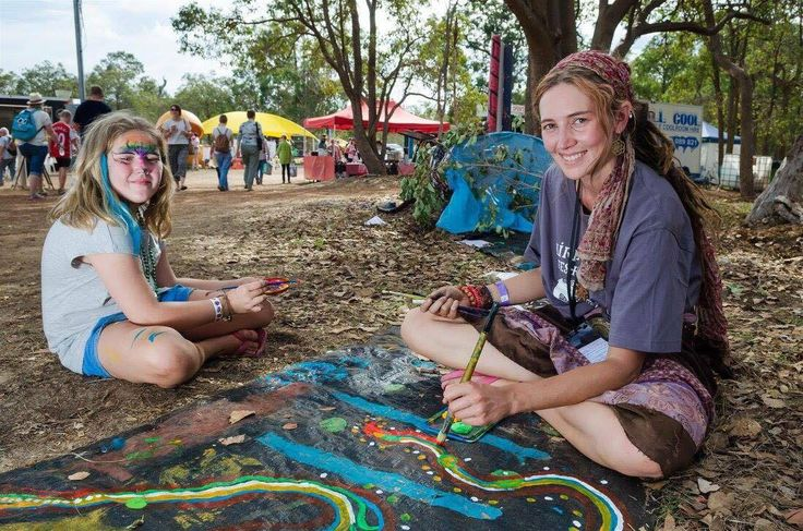 Sone of the incredible paintings from our Rainbow Serpent Project at Fairbridge Festival. See more at www.fairbridgefestival.com.au  Photo by Richard Watson