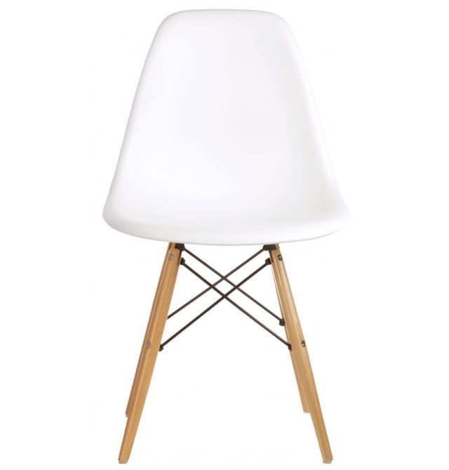 Replica Eames Premium DSW Side Chair in Plastic/Beech Legs