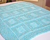 Cozy aqua baby blanket