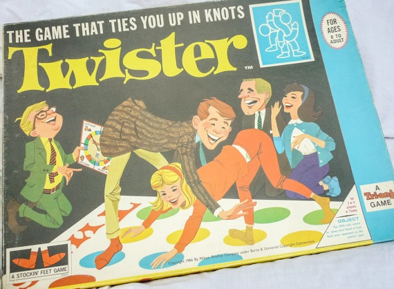 1960s Twister Game.