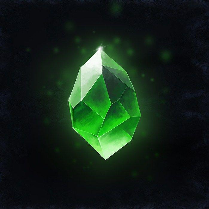 b9ac2afe20e10 Illustration - Emerald in Stone, Digital Painting, Photoshop ...