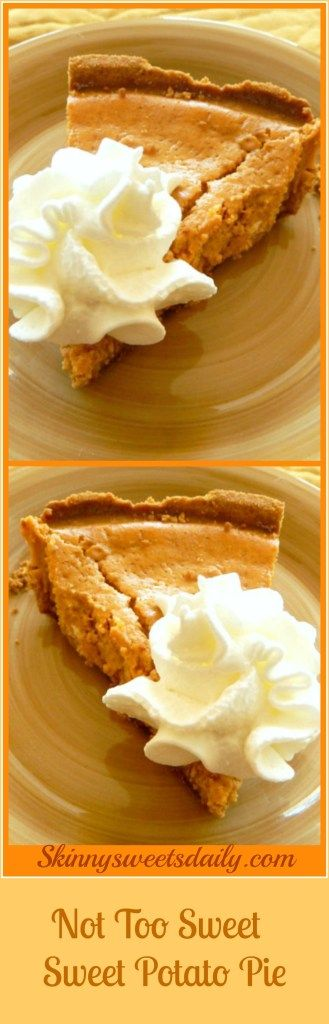 Not Too Sweet, Guilt Free Sweet Potato Pie – Skinny Sweets Daily