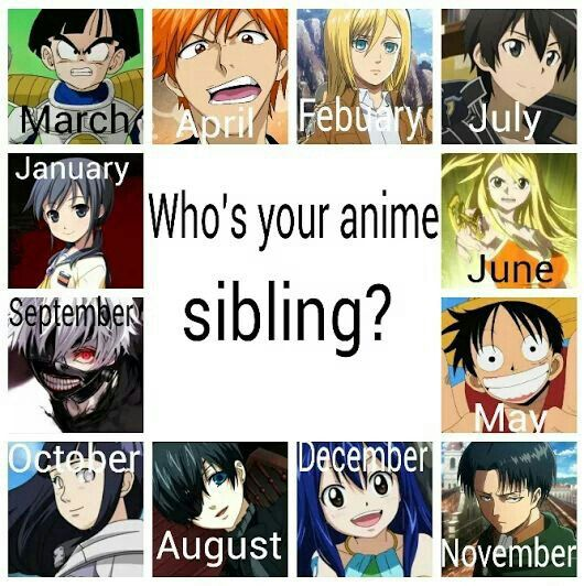 Anime Characters Born In August : Anime calendar sibling ichigo memes