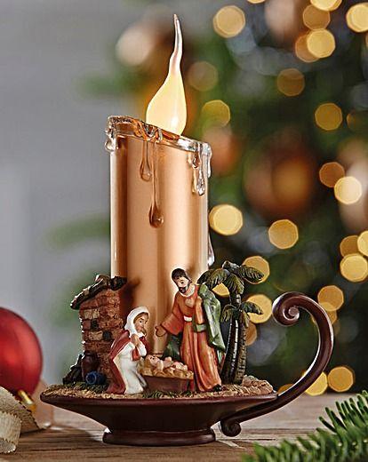 Nativity Scene Candle Light