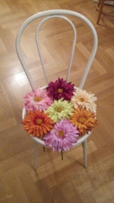 Sedia fiorita