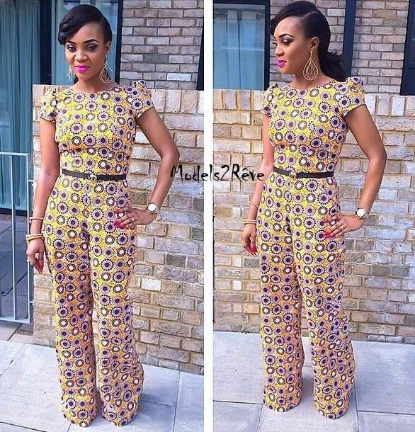 Jumpsuit With African Prints | African Kreations ...
