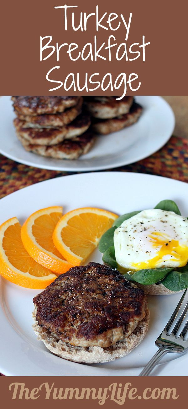 Turkey Breakfast Sausage. For a lean, flavorful, high protein start to your day. Super easy to make! www.theyummylife.com/turkey_breakfast_sausage