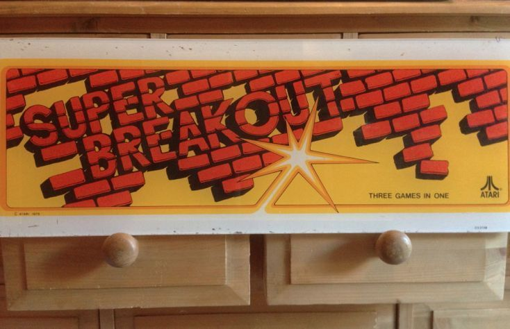 SOLD --- SUPER BREAKOUT Vintage Atari Retro Genuine Arcade Marquee 1978 Video Game Rare