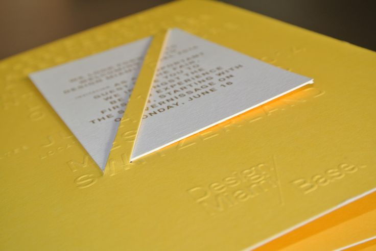 VIP invitation. #graphics # artbasel #designmiami #yellow