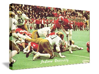#Indiana #football #gifts like this Indiana football art. The best football gifts are at http://www.shop.47straightposters.com/Vintage-Indiana-Football-Art-IND-71.htm