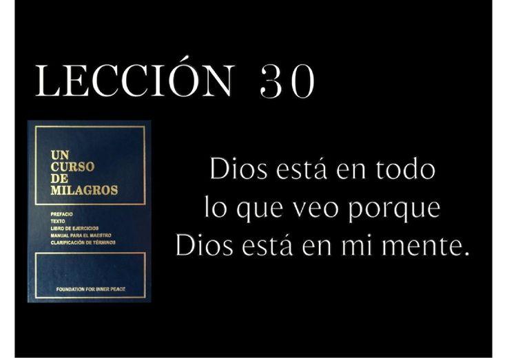 Lección 30 Un Curso de Milagros