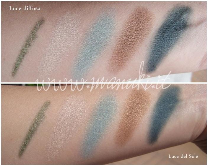 Eyeliner Verde e Quattro Eyeshadow n.45 Golden Turquoise #alverde