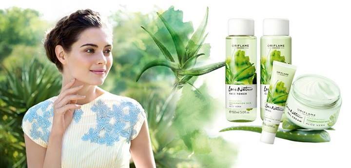 Love Nature Aloe Vera huidverzorging voor normaal/gecombineerde huid #oriflame
