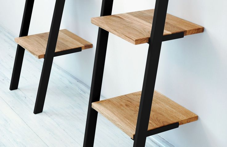 Simplicity is the keynote of all true elegance. Small ladder bookcase NANI Black.