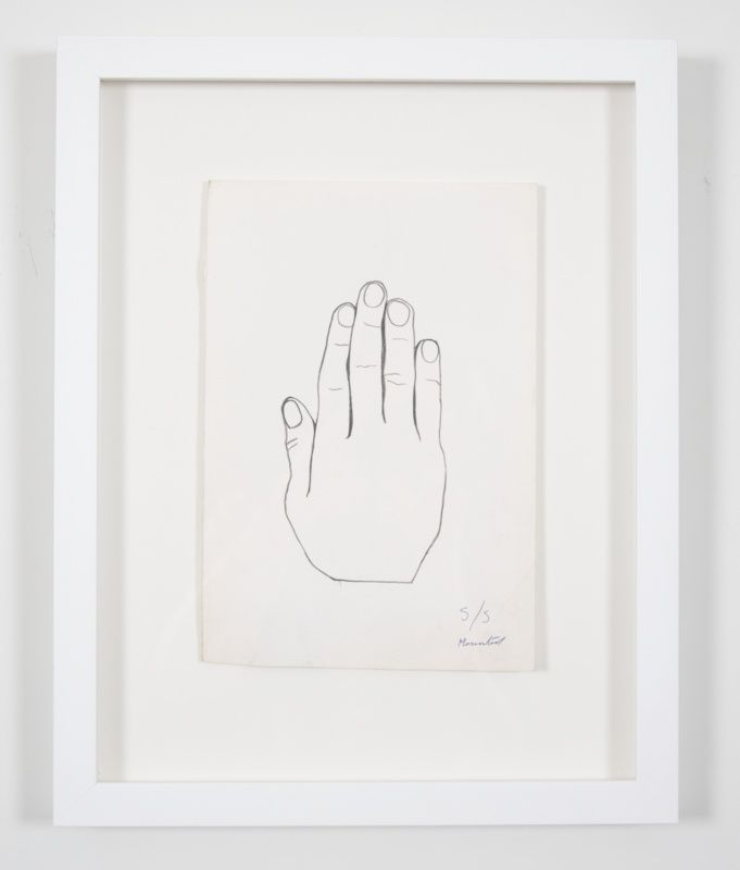 Jim Dine hand drawing from Chester square
