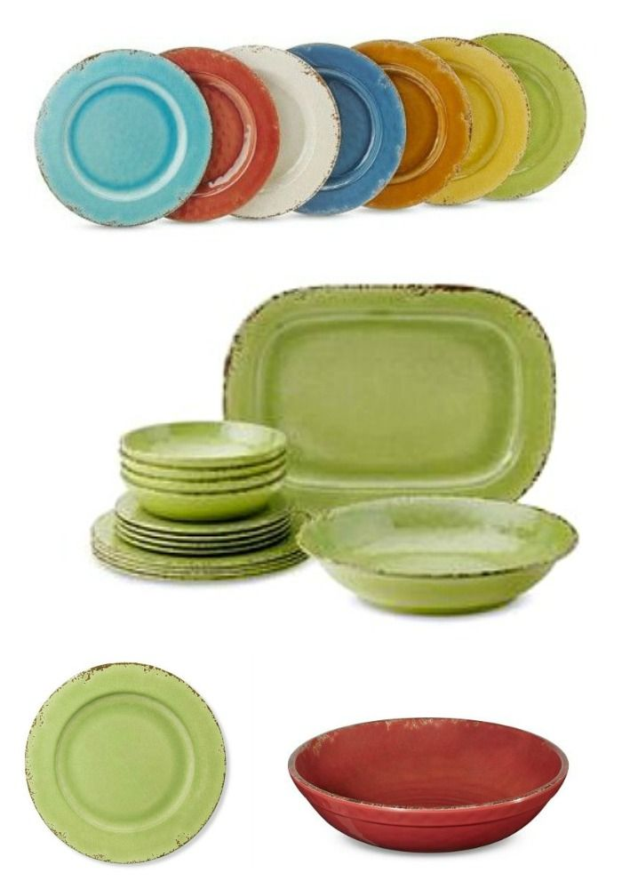 melamine dinnerware that captures the beauty of antique earthenware and recreates the subtle texture rubbed edges and rich glazed finish of ceramic in - Melamine Dishes
