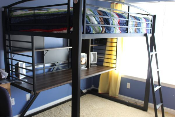 Loft Bed Full Size With Desk Small Apartment Decorating