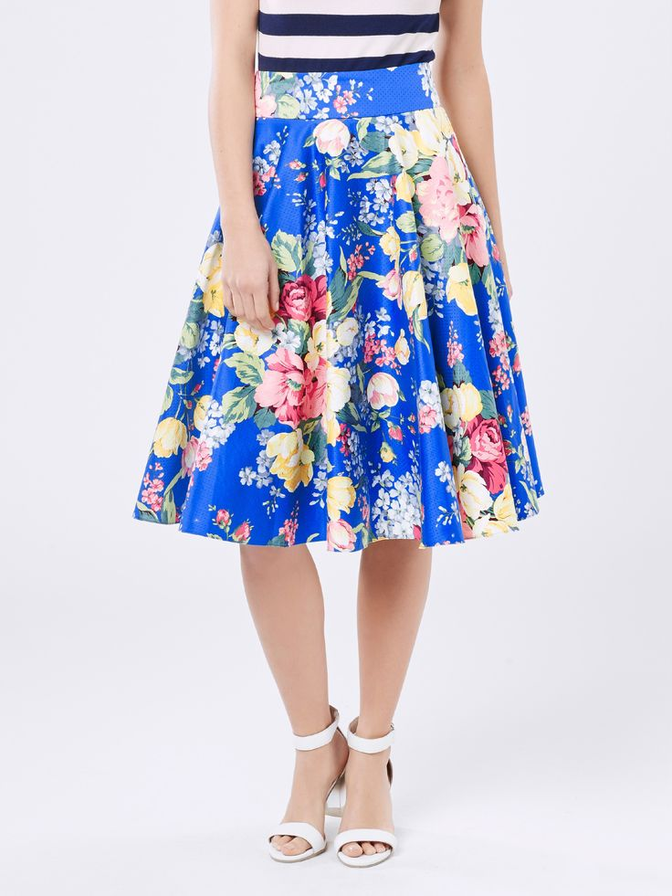 Review floral symphony skirt