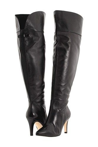 Ros Hommerson Shirley Extra Wide calf boot Black Lear Super Wide--I MUST  have these, I've yet to find a OTK boot that fits my chunky calves.