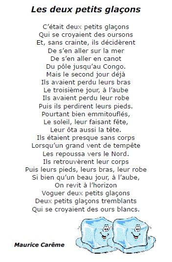 poesies hiver cm2 - Google Search