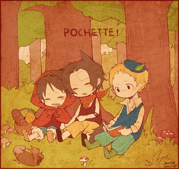 Mayer, ONE PIECE, Sabo, Portgas D. Ace, Monkey D. Luffy, Huntsman (Red Riding Hood)