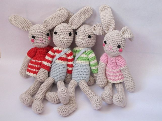 Hand crochet baby rabbit, by Lily's Attic