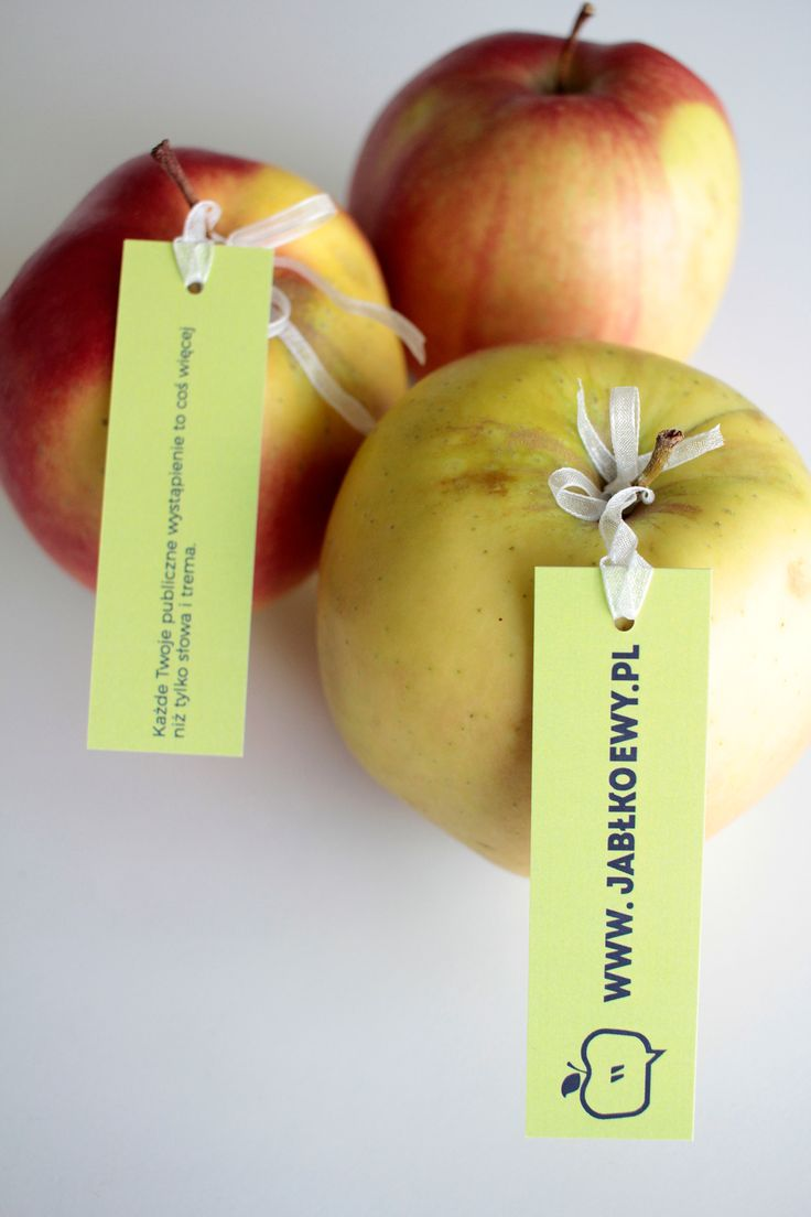 Apples tags, bussines cards, Brand identity design Jabłko Ewy Public Speaking Coach on Behance
