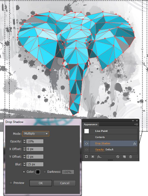 How to make low polygonal effect in Illustrator