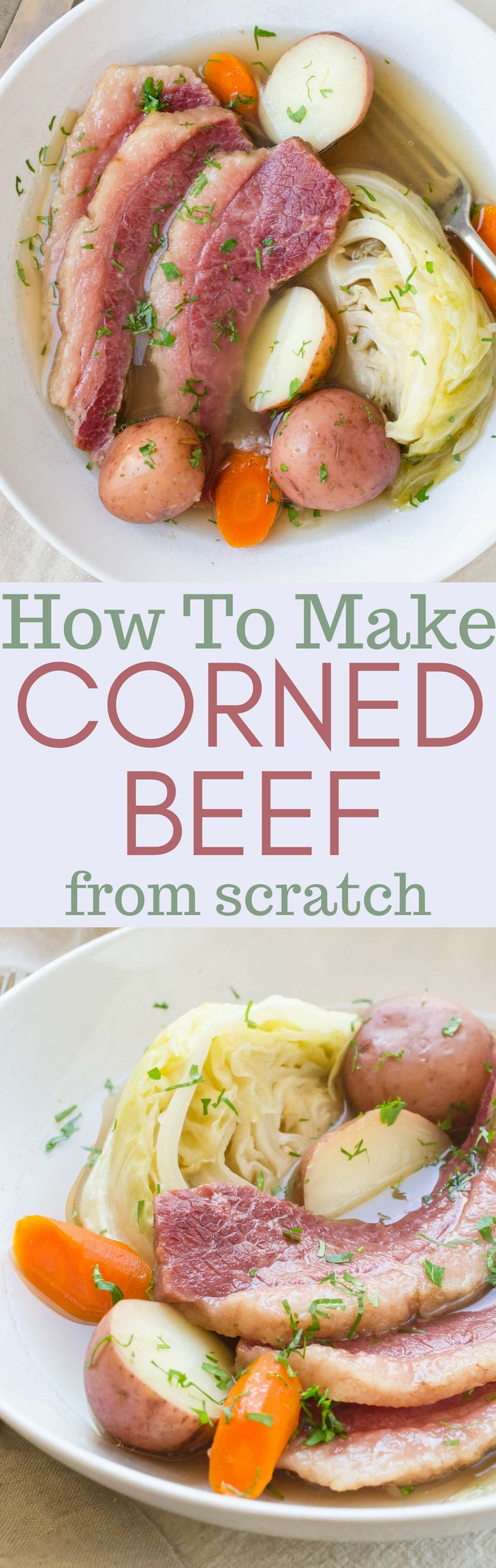 The best corned beef and cabbage recipe starts with making corned beef from scratch. Learn how to corn beef with a good brine and a little time for this easy St. Patrick's Day favorite. #corned beef #howtocornbeef #cornedbeeffromscratch #homemadecornedbeef #easycornedbeefandcabbage #cornedbeefandcabbage #cornedbeefandcabbagerecipe #brineforcornedbeef #howtomakecornedbeef #beefbrisket #brisket #briningbrisket #stpatricksday #stpatricksdaycornedbeef #stpatricksdaydinner #onepotmeals...